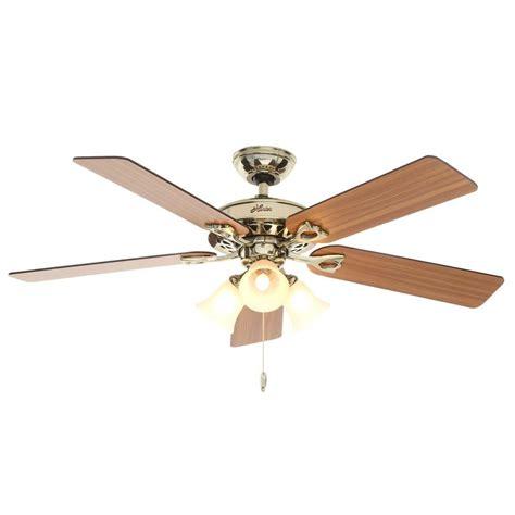 bright brass ceiling fans sontera 52 in indoor hill bright brass ceiling fan