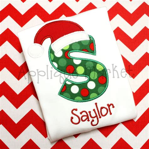 applique market santa hat applique alphabet