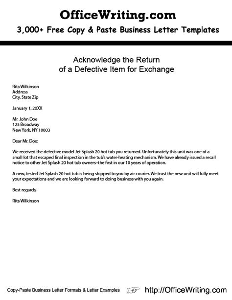 free acknowledged letter samples example letter format
