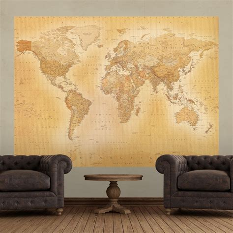 1 wall mural 1 wall world map atlas wallpaper mural 1 58m x 2 32m