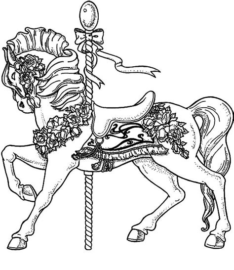coloring pictures of carousel horses pin carousel horse coloring pages fancy page on pinterest