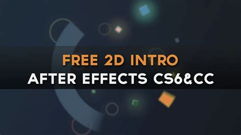 tutorial after effect intro simple beautiful free 2d intro template after effects