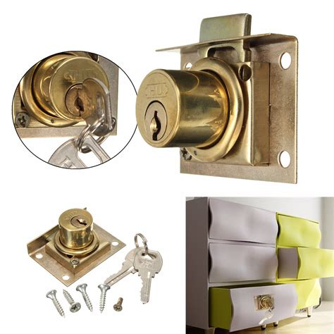 Replacement Desk Lock by Drawer Lock Kit With 2 Cabinet Cupboard Door Home