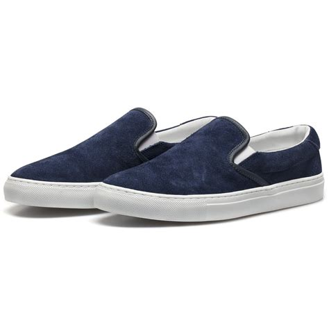 slip on sneakers diemme navy sharks fin suede garda slip on sneakers in