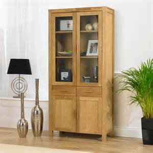 Oak Shoe Storage Bench Milan Oiled Oak Display Cabinet 14102 Furniture In Fashion