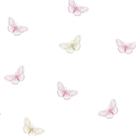Yellow Kitchen Walls by Designer Selection Flutter Butterfly Wallpaper White