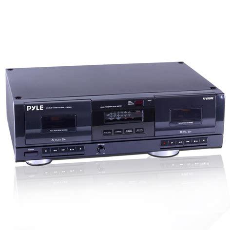 cassette converter new pyle pt659du dual stereo cassette deck w usb to