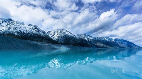 tasman lake  south island  zealand  bing desktop