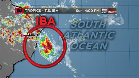 tropical storm iba forms  brazil  late march