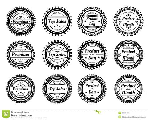 High Quality Round Labels Isolated On White Background