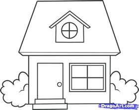 house draw simple house drawing draw kids building plans online 43647