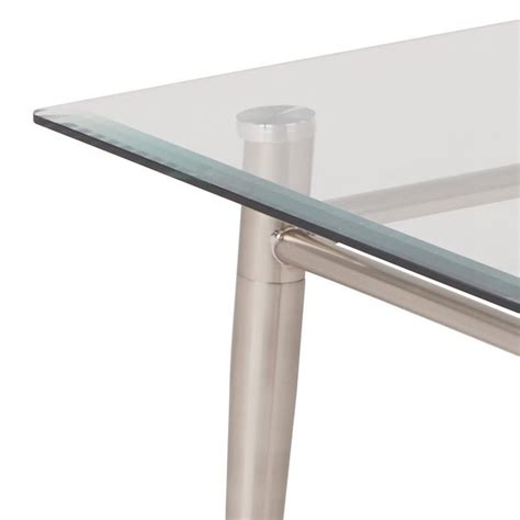 Tempered Glass Coffee Table Tempered Glass Top Coffee Table In Silver Mg1242s Nb
