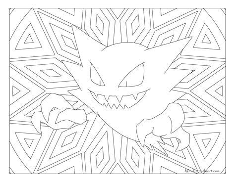 pokemon coloring pages haunter 093 haunter pokemon coloring page 183 windingpathsart com