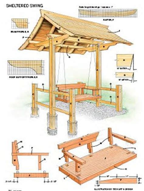 yard bench plans swings arbor swing and hammocks on pinterest
