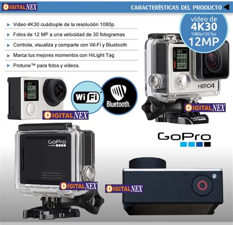 Go Pro No Wifi Wi Fi Hd 1080p 2 Inch go pro 4 black wifi touch 4k 30fps 1080p sumergible