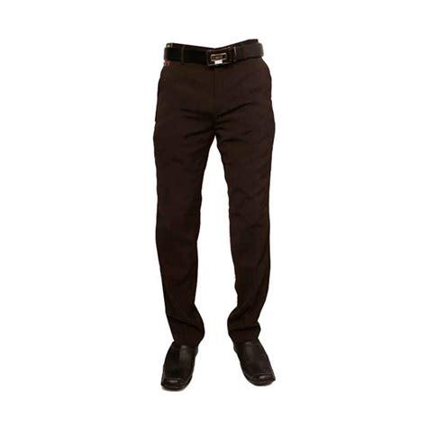 jual gudang fashion formal katun coklat celana panjang