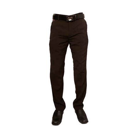 Celana Coklat Cowok jual gudang fashion formal katun coklat celana panjang pria harga kualitas terjamin
