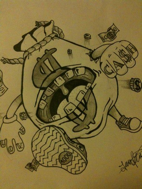 tattoo money logo moneybag monster tattoo by carbun on deviantart posters
