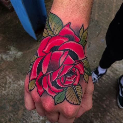 hand rose tattoo by matt webb mattwebb