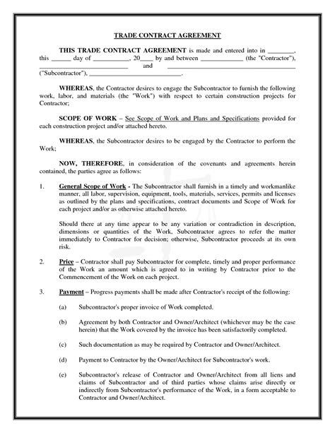 master subcontract agreement template awesome pics of construction subcontractor agreement