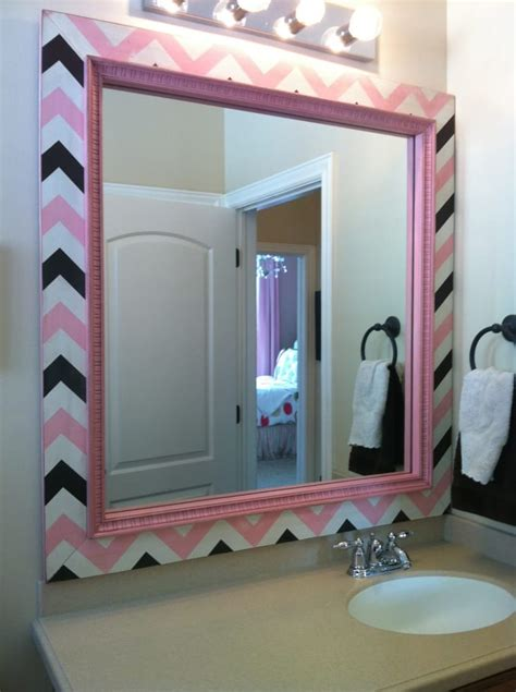bathroom mirror frame kits chevron frame mirror frame kit bathroom mirror frames