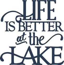 Green And Yellow Kitchen Decor - life is better at the lake wall sticker 15x15