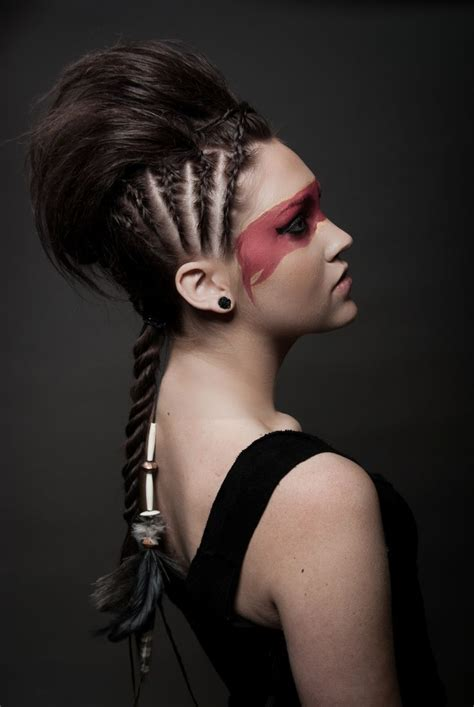 how to do warrior princess hair halloween makeup my style pinterest