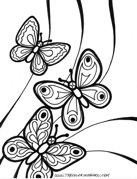 butterfly coloring pages pinterest coloring pages free printable butterfly coloring pages