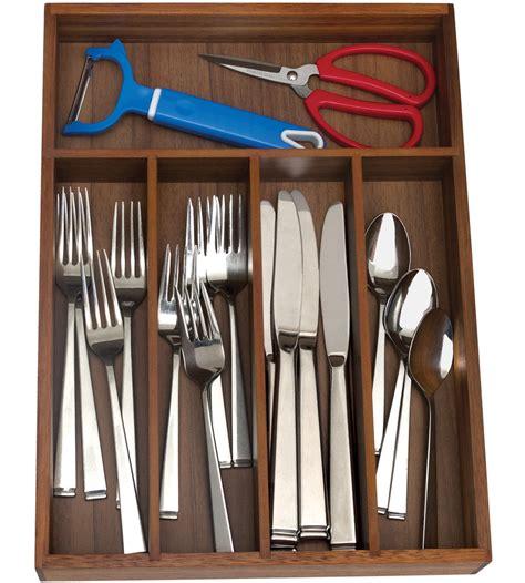 flatware drawer organizer five sections in kitchen