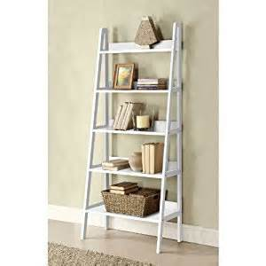 white ladder bookcase with drawers amazon com mintra ladder 30 quot w bookshelf white finish