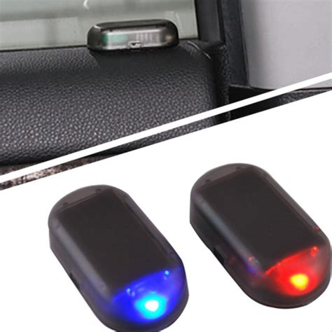 security led lights car car led alarm lights simulate imitation fake solar