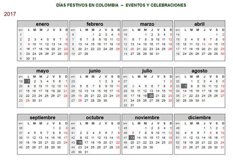 Calendario De Festivos Calendario Laboral 2017 Calendario 2017