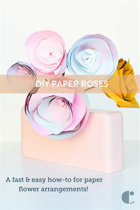 How To Make Paper Roses Easy - make and easy paper roses curbly