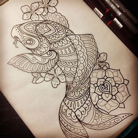 Mandala Koi Tattoo | 1000 ideas about koi tattoo design on pinterest