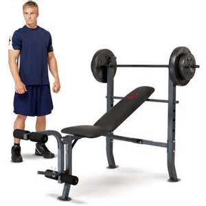 marcy bench press set marcy weight bench w 80lb weight set md 2080