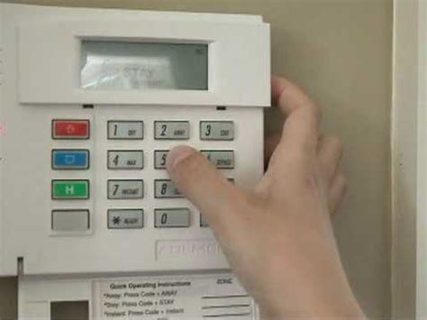 jeff s honeywell security alarm panel demonstration