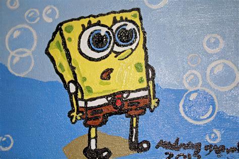 spongebob painting acrylic painting spongebob squarepants by gravadrey on