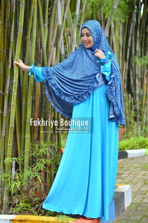 Gamis Kerudung Khadijah khadija turquice baju muslim gamis modern