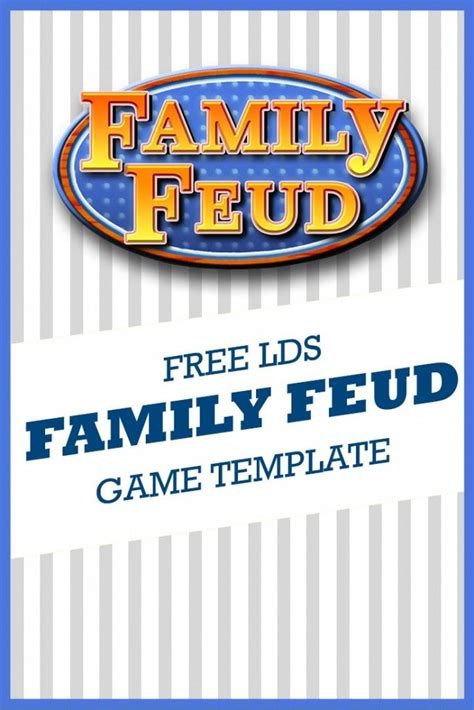 free family feud template 1000 images about handouts object lessons on