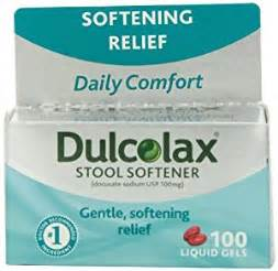 dulcolax stool softener laxative 100 count