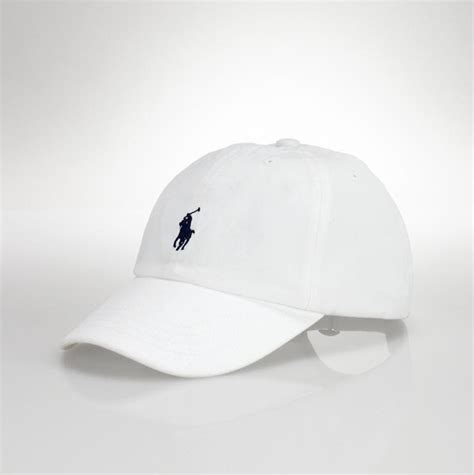 Polo Cap White sonatafashion brands ralph polo ralph