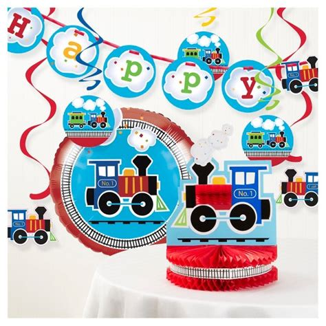 Target Birthday Decorations by All Aboard Birthday Decorations Kit Target