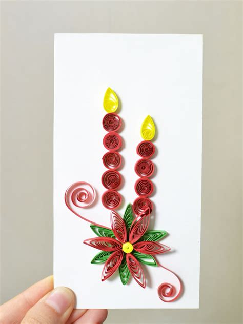 How To Make Paper Quilling Cards - how to make new year paper quilling greeting cards