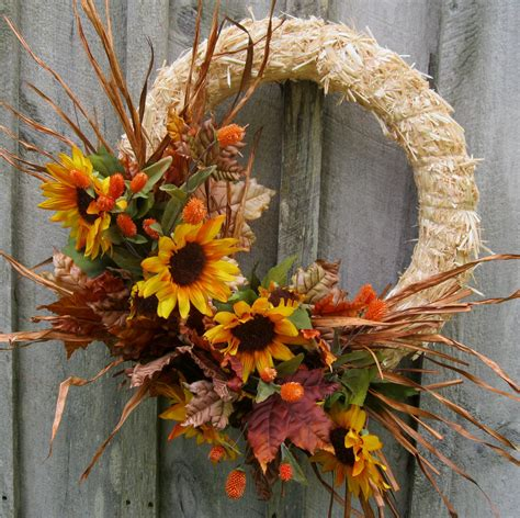 autumn wreaths sale wreath fall wreaths autumn straw wreath sunflowers