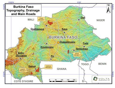 burkina faso map burkina faso map tourist attractions travelsfinders