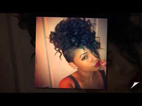 mohawk hairstyles for black women youtube