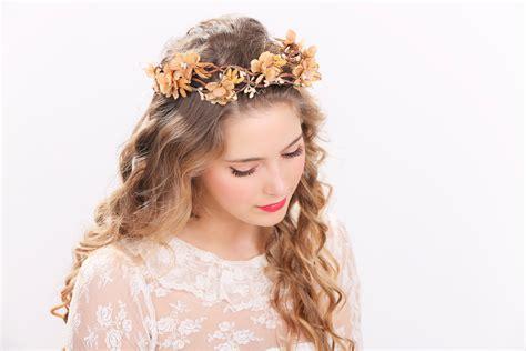 rhinestone flower headband rustic flower by rustic flower crown bridal headband flower crown