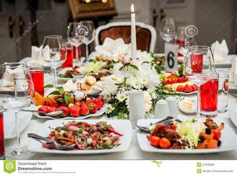 Table At Restaurant Table Setting At Restaurant Royalty Free Stock Image