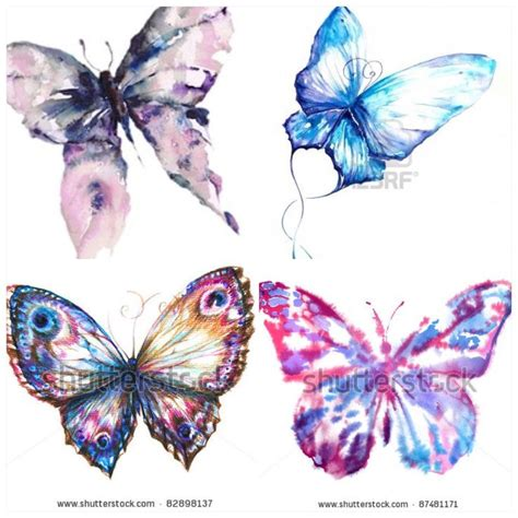 watercolor butterflies for future tattoo tattoos