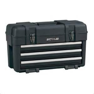 waterloo pp 2314bk plastic tool box with drawers